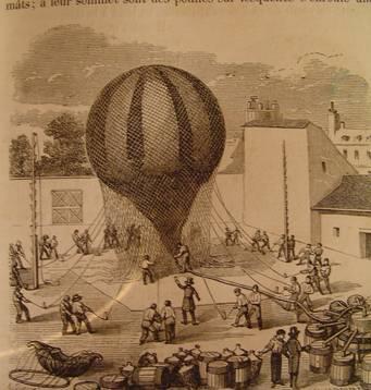 Globo aerostático s.XIX