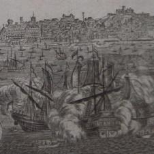 Grabado Vista de Lisboa século XVIII