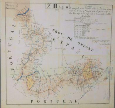 Mapa fronteira Ourense-Portugal