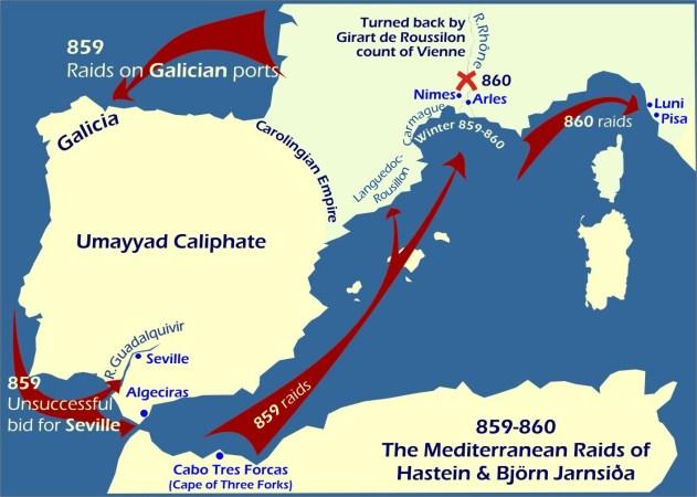 Ataques vikingos en la península ibérica y el Mediterráneo documentalium