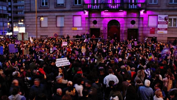 A Folga Feminista de Ourense en fotos.
